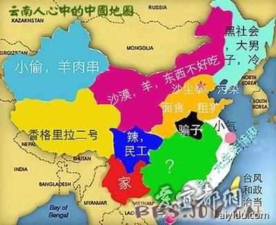 中国地图上的湖北