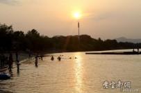 傍晚的清江公园一角
