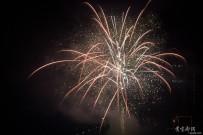 试拍新年烟火祝福大家猴年幸福安康红火大发
