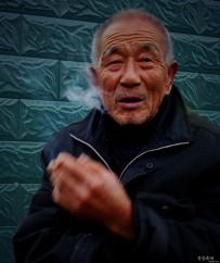 沧桑-老者今年八十一